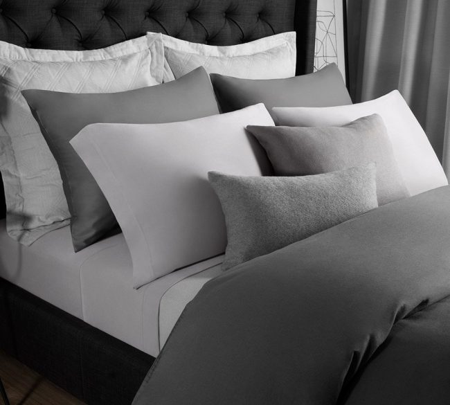 Best Modal Bed Sheet Solid Jersey Set In Ash Gray