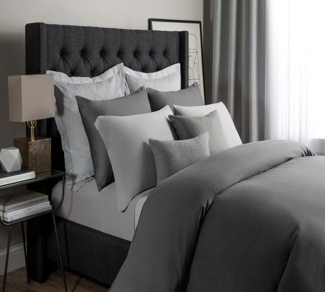 Best Modal Bed Sheet: Solid Modal Jersey Sheet Set In Ash Gray