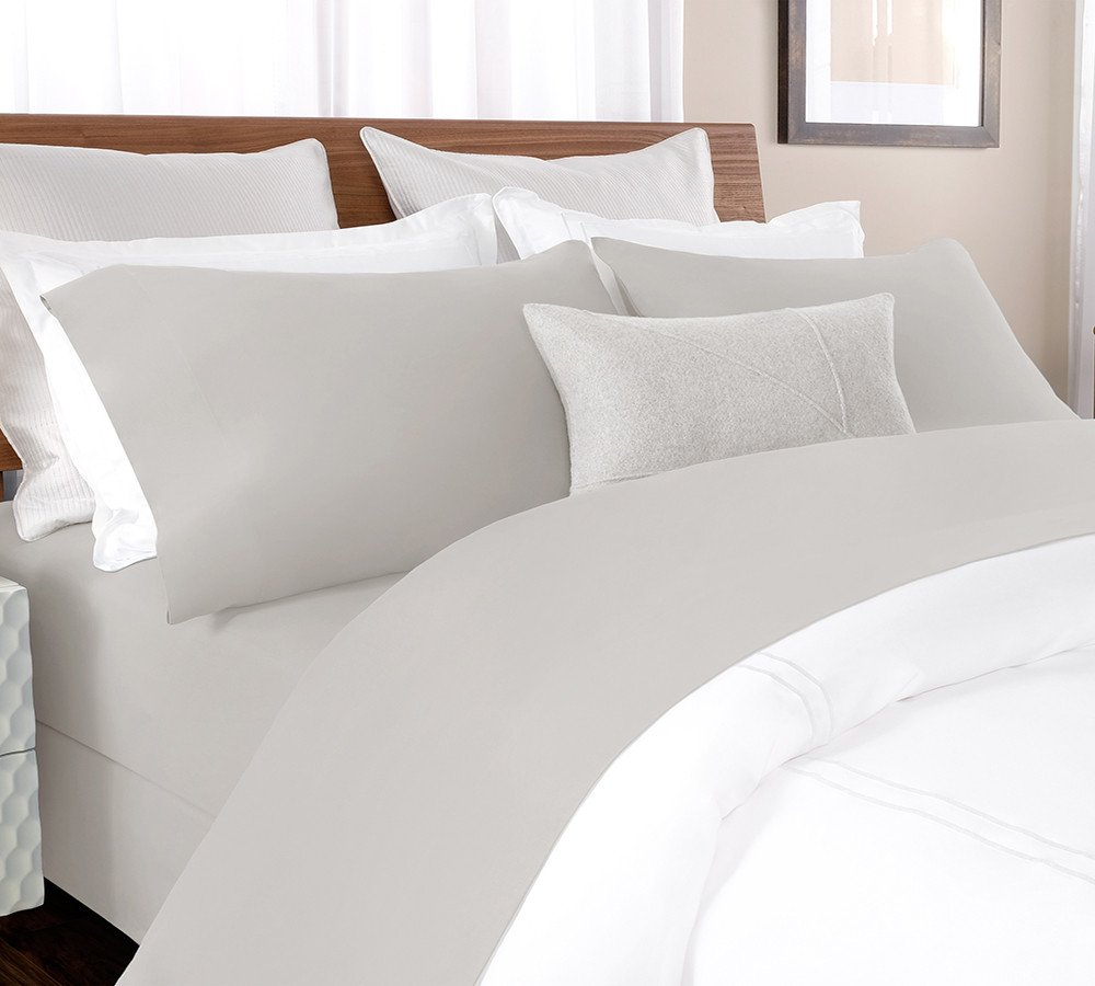Get Your Bed Ready For Summer With Our Superior Quality 100 Pure And Organic Cotton Percale Sheet Set In Silver Grey That Comes A Of 3 4 Piece