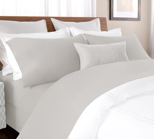 percale sheet set in Silver Grey