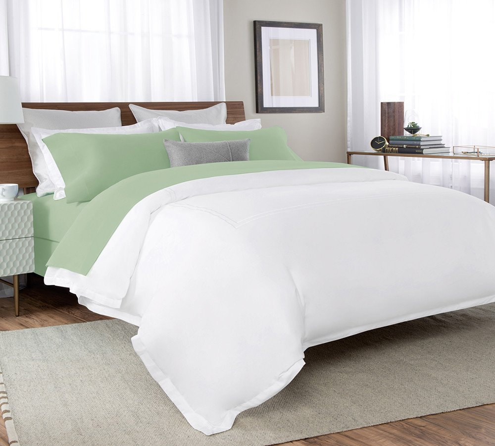 Percale Sheets In Spruce Green A Sounding Sleep For Whole Night Silky Crisp And Soft To The