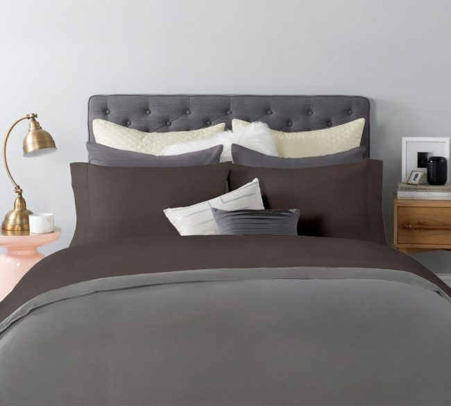 Heavyweight and Luxurious Sateen sheet Set in Iron Color