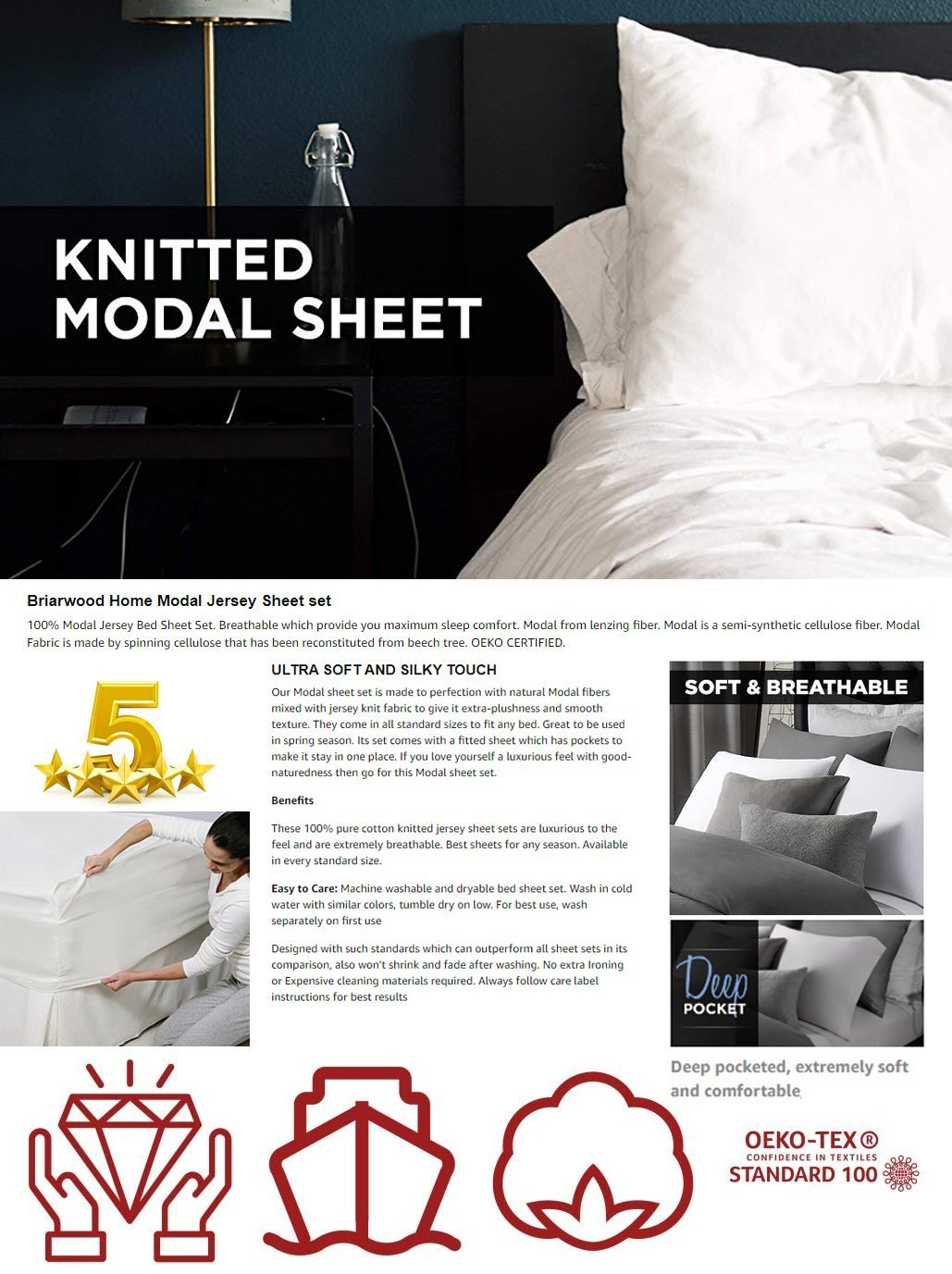 Briarwood Home Modal Jersey Sheet set