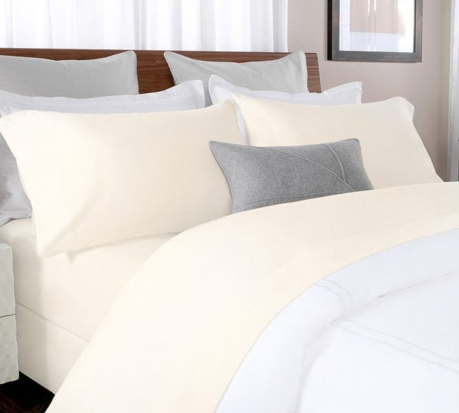 percale sheet set in Beige