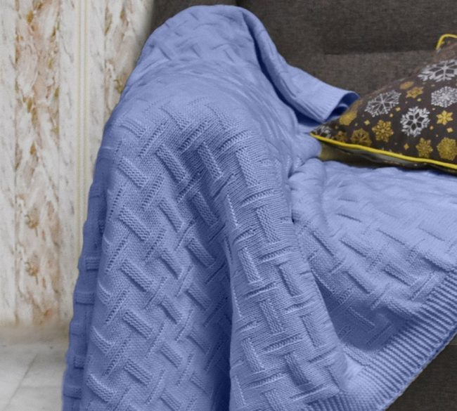 Basket Weave Cotton Blue 2