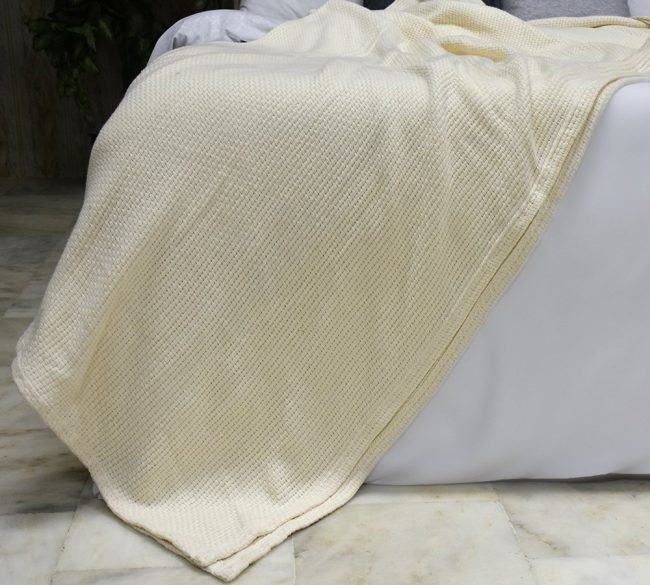 Enjoyable Imported Basket Weave Cotton Blankets Queen Ivory Lightweight And 100 Soft Premium All Season Cotton Throw Blankets Bralicious Painted Fabric Chair Ideas Braliciousco