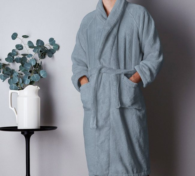 Bathrobe Cashmere-Blue