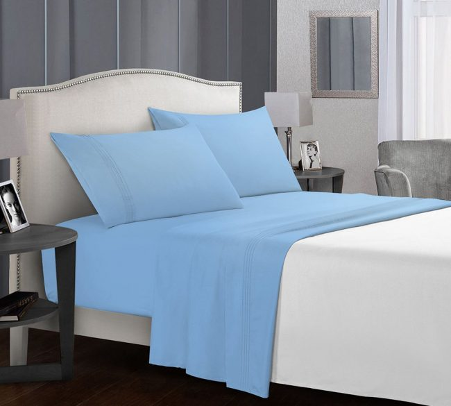 Microfiber Sheet in Baby Blue