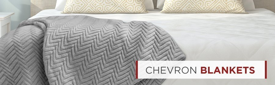 400 GSM Chevron Plush Throw Blankets