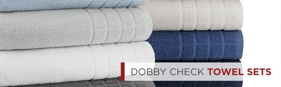 Dobby Check Double Home Towels