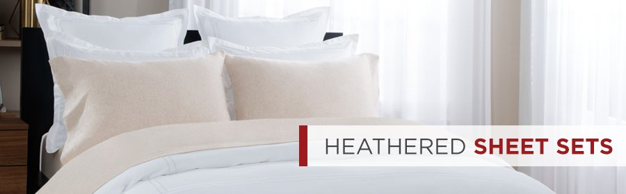 Cotton Heathered Jersey Sheets