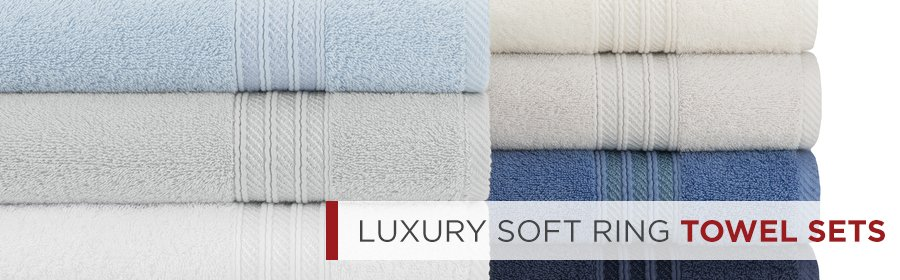 Luxury Soft Ring Lightweight Cotton Face Towels
