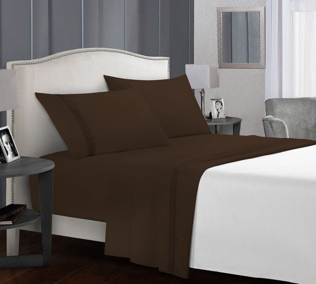 Microfiber Sheet sets Chocolate Bed