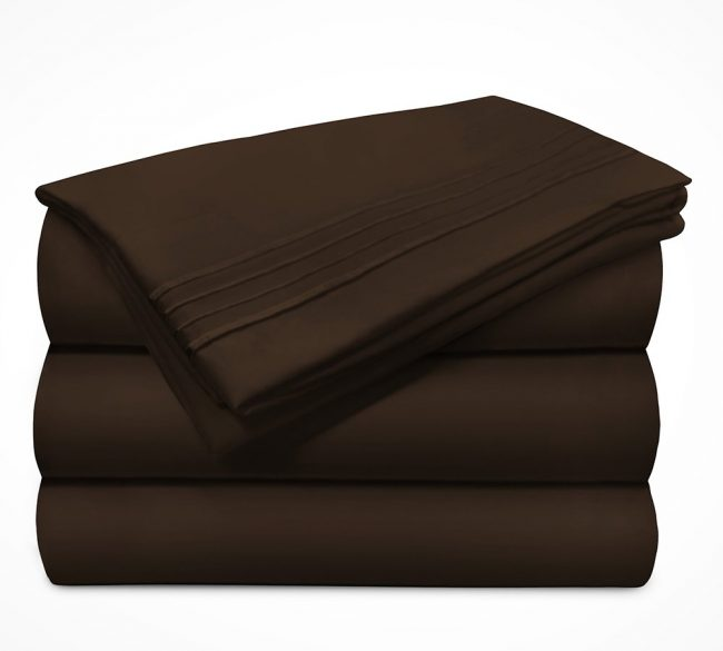 Microfiber Sheet sets Chocolate Stack-1