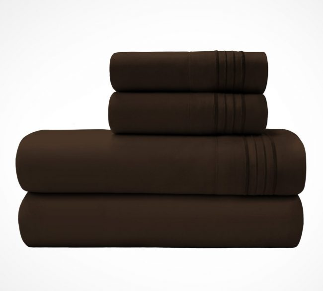 Microfiber Sheet sets Chocolate Stack-2