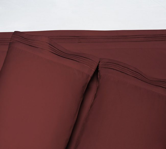 Microfiber Sheet sets Velvel Burgundy Pillows
