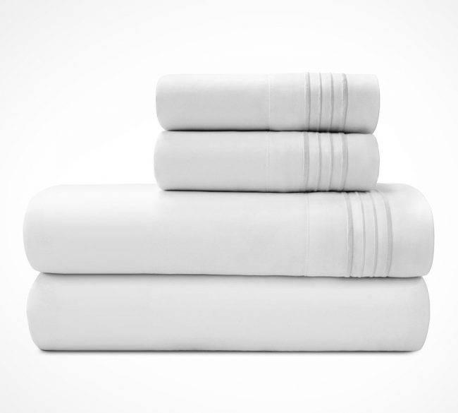 Microfiber Sheet sets White Stack-2