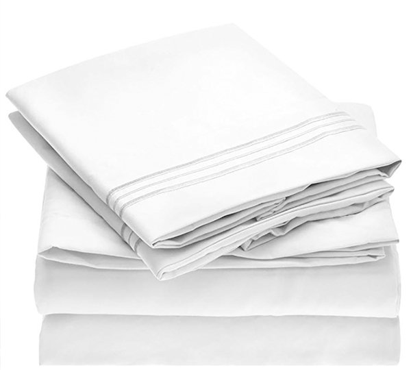 Microfiber sheet set guide