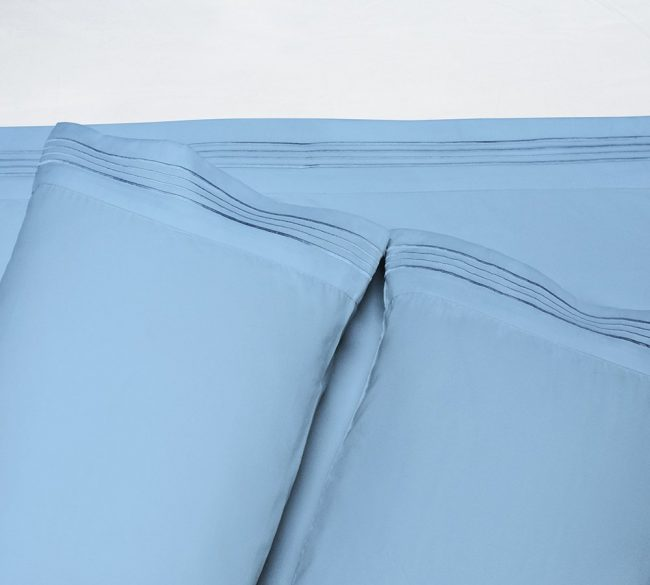 Microfiber Sheet Sets Baby Blue