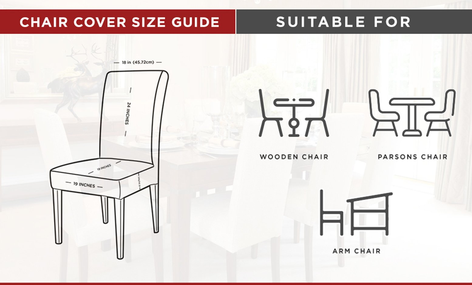 Slipcover Size Chart