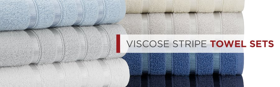 Viscose Stripe Spa Quality Hand Towels